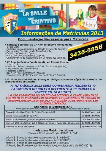Livro Orientação Educação Infantil 2013.cdr - La Salle