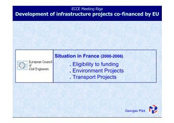 Development of Infrastructure Projects Co-Financed by EU