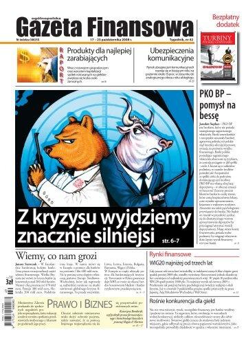 Gazeta Finansowa 17-23 października 2008 - Poland Securities