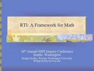 Framework for Math - Western Washington University
