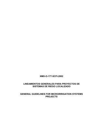 NMX-O-177-SCFI-2002 LINEAMIENTOS GENERALES PARA ...