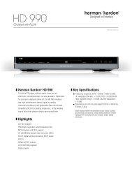 Specification Sheet - HD 990 (English EU) - Harman Kardon