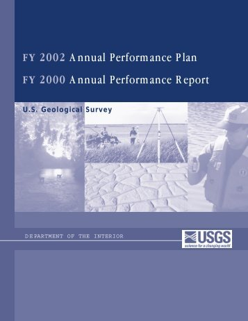 FY 2002 Annual Performance Plan FY 2000 Annual ... - USGS