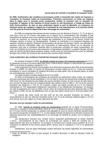 Bilan 2006 transports - ORT PACA