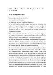 1 Antrittsrede Martin Schulz, Präsident des Europäischen ... - SPD