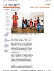 Page 1 of 4 Danzahoy en Español - Actualidad 8/30/2005 file://C ...