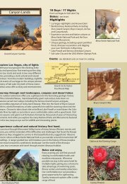 Canyon Lands - Adventure Tours by Travel Dream West