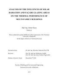 analysis of the influences of solar radiation and façade glazing ...