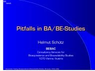 Pitfalls in BA/BE-Studies - BEBAC • Consultancy Services for ...