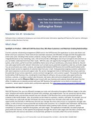 Newsletter Vol 24 Spotlight - Softengine Inc.