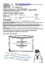 Weihnachtsferien vom 23.12.2011 08.01.2012