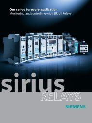 SIRIUS Relays (E20001-A370-P302-V7-7600) - Siemens Industry, Inc.
