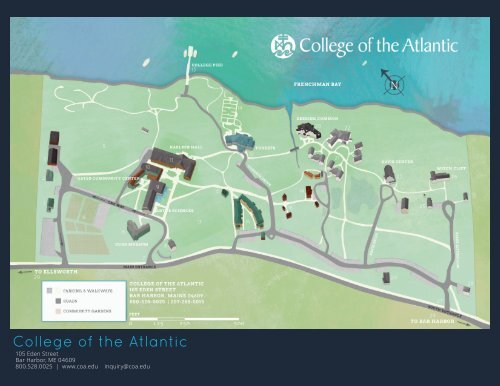 Printable Campus Map Pdf College Of The Atlantic