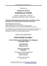 Erziehung zur Freiheit - Freie Waldorfschule Schopfheim