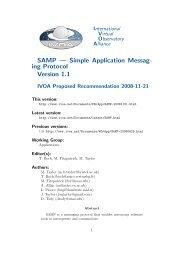 SAMP — Simple Application Messag- ing Protocol Version 1.1 - IVOA