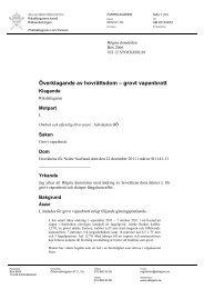 ÅM 2012 0051 Grovt vapenbrott - Åklagarmyndigheten