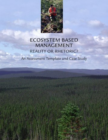 ECOSYSTEM BASED MANAGEMENT - Sierra Club Canada