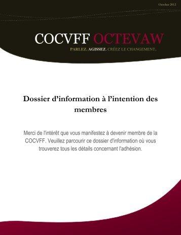 Dossier d'information à l'intention des membres