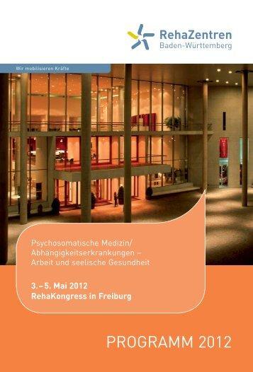 RehaKongress 2012 - Albert-Ludwigs-Universität Freiburg