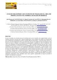 análise ergonômica de um posto de trabalho - Connepi2009.ifpa ...