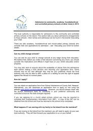 In-year admissions policy Primary 2013 - Isle of Wight Council
