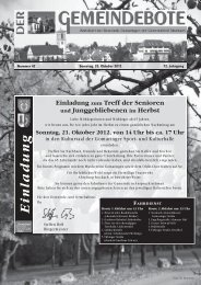 Ausgabe :Gomaringen 20.10.12.pdf - Gomaringer Verlag