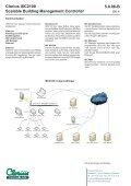 Clorius ISC2100 Scalable Building Management ... - Clorius Controls - Page 4