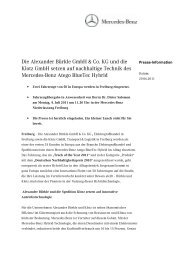 Die Alexander Bürkle GmbH & Co. KG und - Mercedes-Benz ...