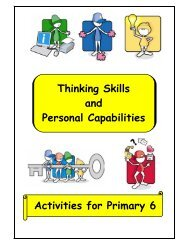 Thinking Skills and Personal Capabilities Activities for Primary 6