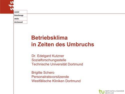 Betriebsklima in Zeiten des Umbruchs - Gute Arbeit - ver.di Tagung