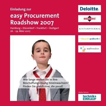 Einladung zur easy Procurement Roadshow 2007 - TechPilot