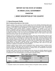 Pakistan - Report on the State of Women in Urban Local ... - escap
