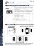 Spec Sheet - Niles Audio - Page 2