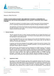 Consultation paper on Draft Implementing Technical Standards on ...