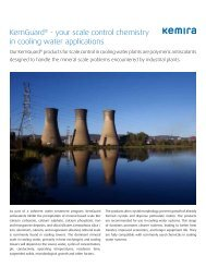 KemGuard® - your scale control chemistry in cooling water ... - Kemira