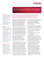 McAfee Enterprise Mobility Management