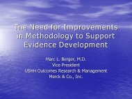 The Need for Improvements in Methodology to Support Evidence ...