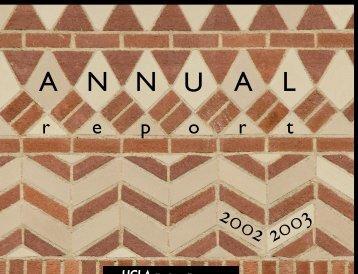 Annual Report 2002-2003 - UCLA Graduate Division