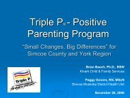 Triple P - Children's Mental Health Ontario