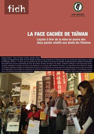 LA FACE CACHÉE DE TAïWAN - FIDH