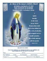 December 2, 2012 - Saint Anne of the Sunset Catholic Church