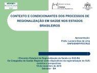 contexto e condicionantes dos processos de regionalização em ...