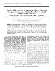 Sources of Zircons from Cretaceous and Lower Paleogene - The ...
