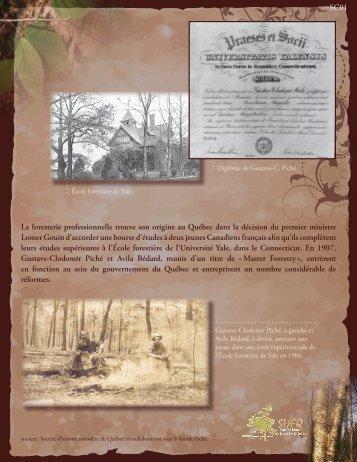 La foresterie professionnelle trouve son origine au Québec dans la ...