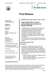 Post-16 Education: Learner Participation and Outcomes in England ...