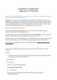 Immobilizer 3 Codifica ECU Aggiornato il 29 Mar ... - Auto Consulting
