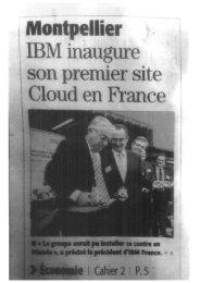 Ouverture centre - CARA IBM