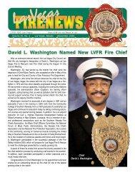 David L. Washington Named New LVFR Fire Chief - City of Las Vegas