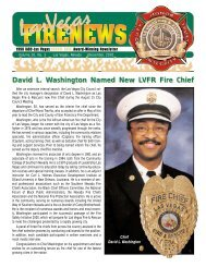 David L. Washington Named New LVFR Fire Chief - City of Las Vegas