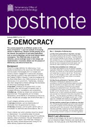 E-DEMOCRACY - Parliament
